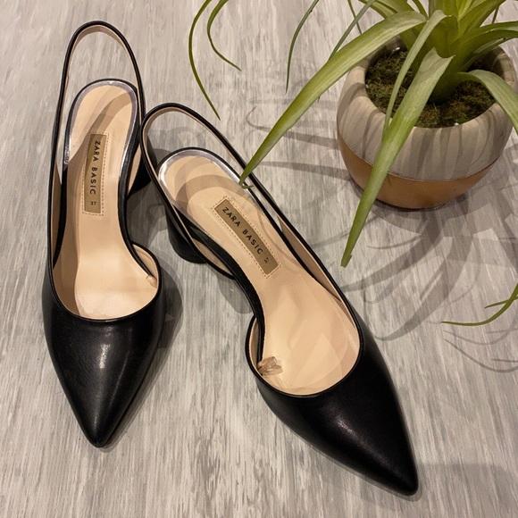 Zara pointed toe heels